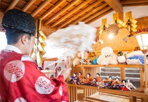 愛知県の人からの依頼で人形供養を行いました。
